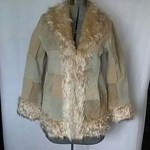 Leather & Faux Fur Jacket